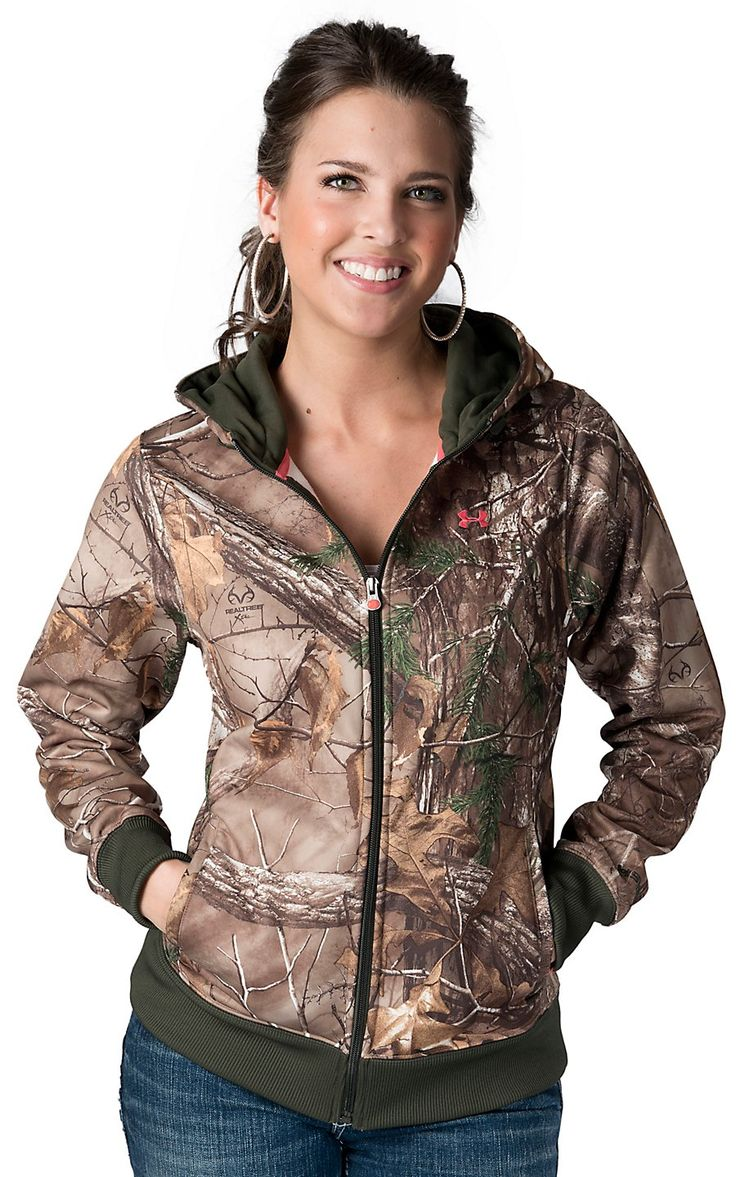 Under Armour 174 Women S Realtree Camouflage Zip Up Hoodie