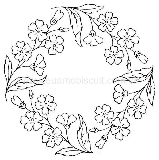 Embroidery Floral Wreath Pattern, part 5... ::ARTESANATO VIRTUAL - Tecnicas de Artesanato | Dicas para Artesanato | Passo a Passo::
