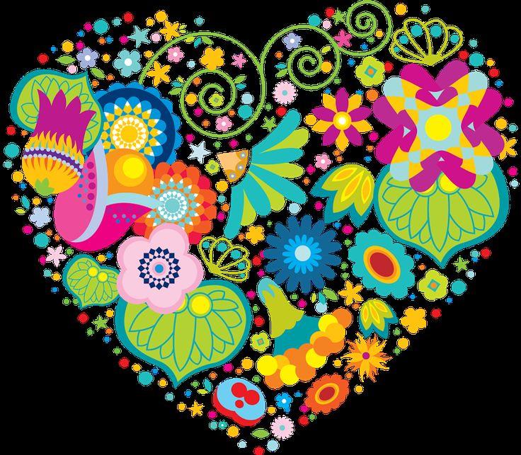 Foto: Corazón de alegría lleno de colores bonitos!! para levantar el animo con colores que dan vida!!