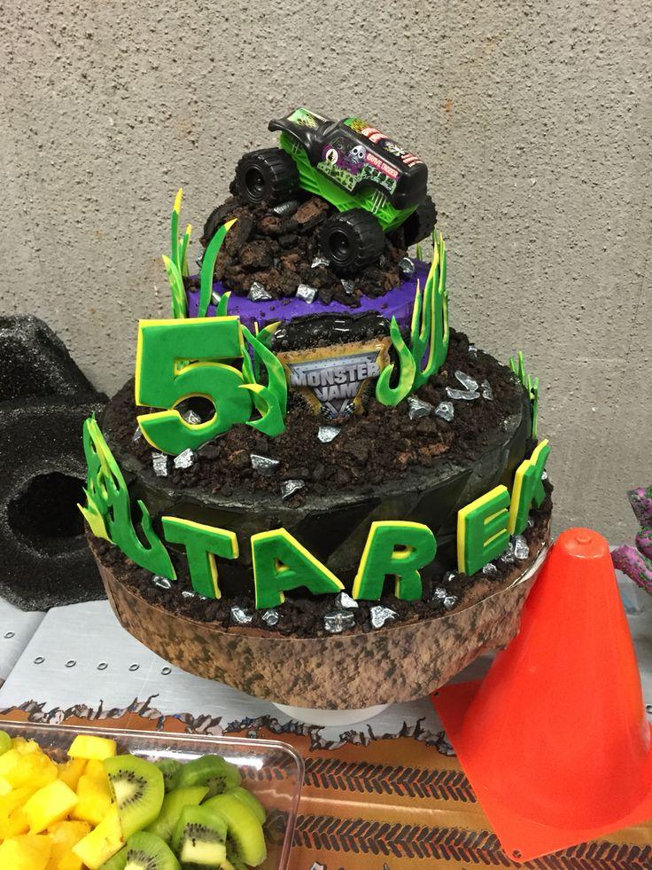 Monster Jam Birthday Cake Idea Gravedigger Cake Monster