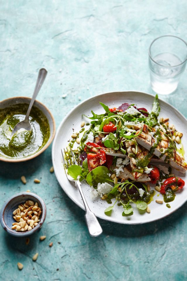 Joe Wicks' healthy chicken salad with lemon pesto recipe