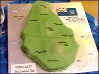 Montserrat Flag Cake