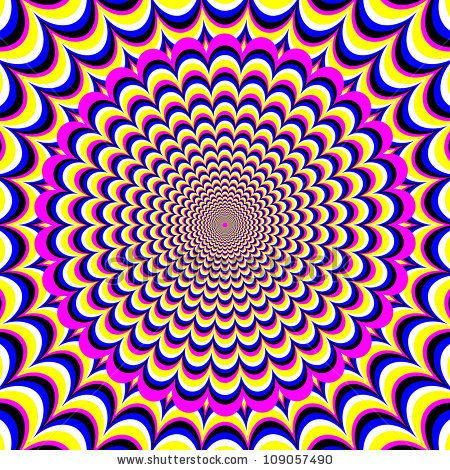 optical illusion illusions meditation motion flower op miraculous clipart vector illussion psychedelic fantasy cool illustrations abstract eye illusory expands fotosearch