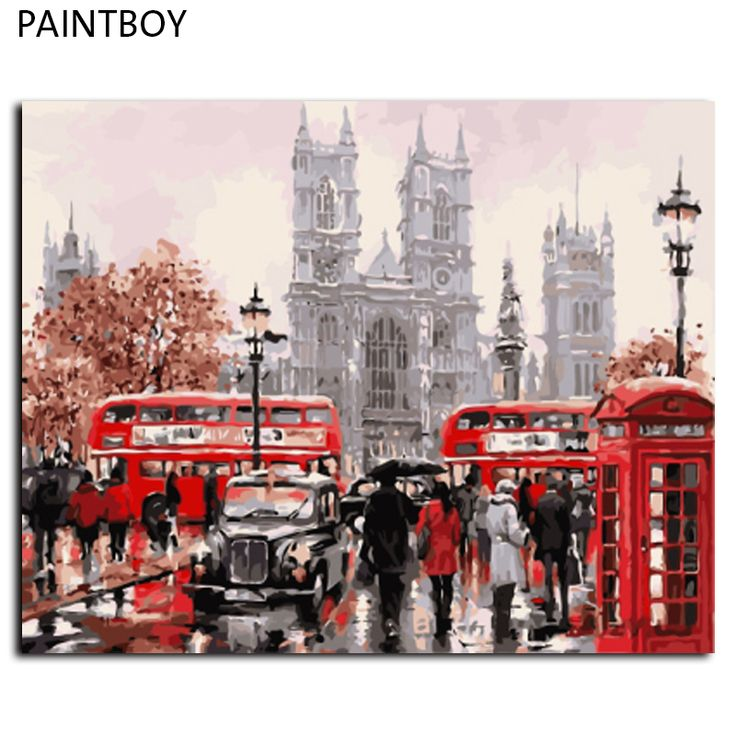 Cheap picture painting, Buy Quality painting picture directly from China landscape pictures Suppliers: Europe Landscape Frameless Pictures Painting By Numbers DIY Canvas Painting By Numbers 40*50cm Home Decoration For Living Room