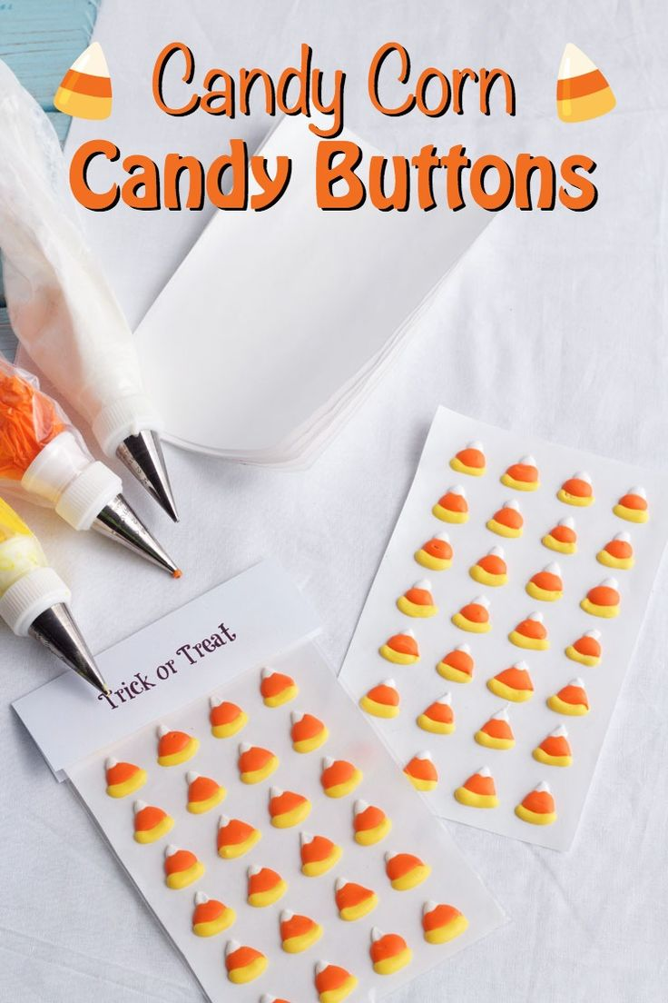 Did you ever eat candy buttons when you were a kid? They were amoung my favoite Halloween treat. Follow this DIY to make candy corn candy buttons this year.