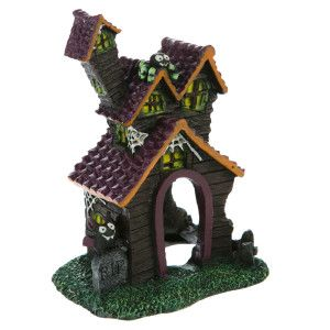 Top Fin® Pet Halloween Haunted House Aquarium Ornament | Dimensions: 2.75 in L x 3.75 in W x 5.5 in H | Ornaments | PetSmart
