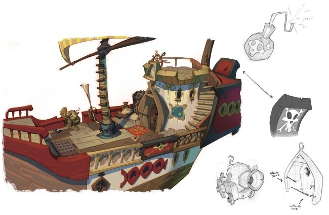 Bookish Ambition: Pirates and Pre-production Art