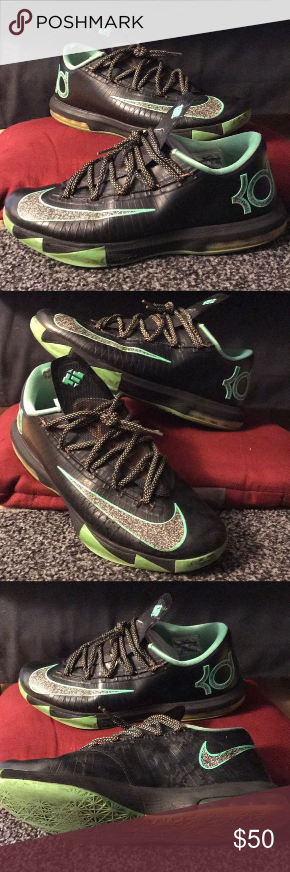 Nike KD 6 Nike basketball and Kevin Durant issued KD 6 low tops. Used condition. Men's. Shoes Athletic Shoes