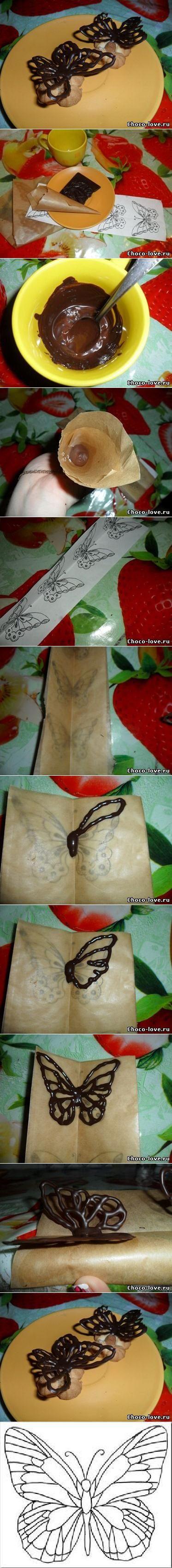 DIY Chocolate Butterfly Decoration | FabDIY