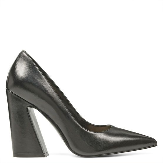Nine West Block and Chunky Heels Henra Pointy Toe Pumps