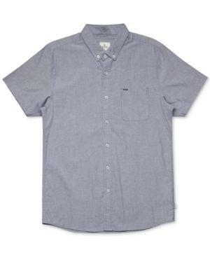 Rip Curl Men's Cotton Shirt - Blue S