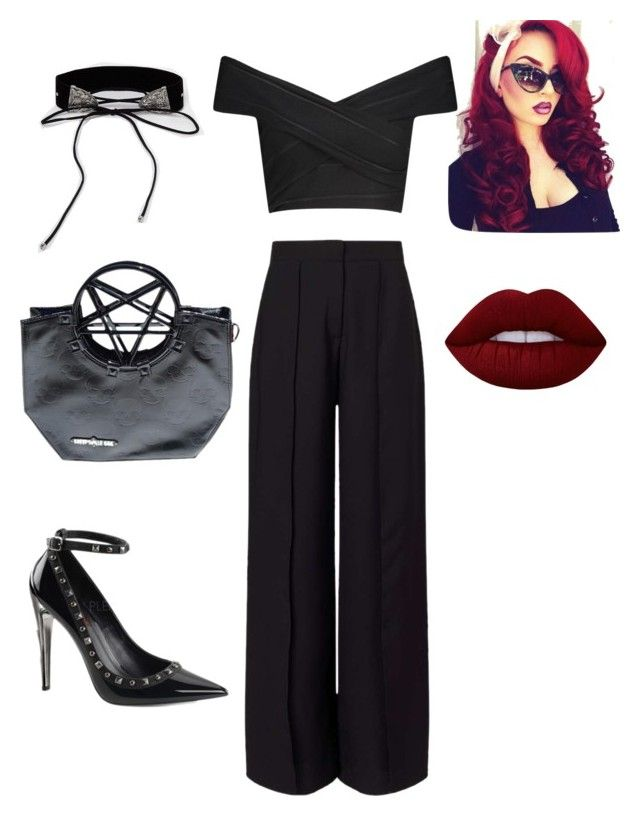 """""""Sunday Cocktails"""" by purchasedharpy on Polyvore featuring Boohoo, Demonia, Miss Selfridge and Lime Crime"""