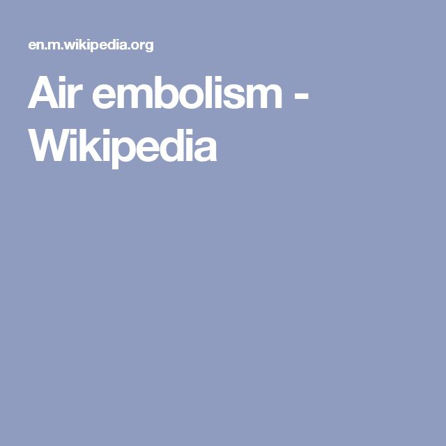 Air embolism - Wikipedia
