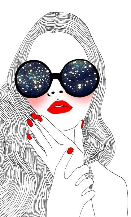 Starry eyed #art #illustration