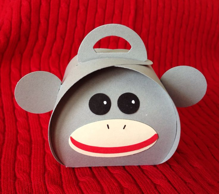 Sock monkey curvy keepsake box