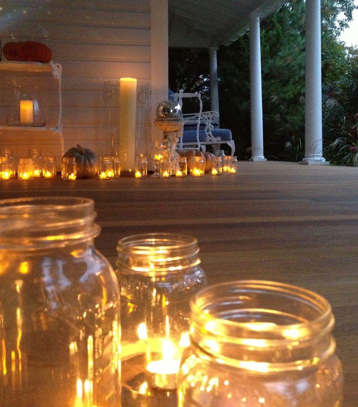 Tea lights, votive candles, mason ball jars