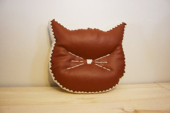 CUSTOM Cat Head Silhouette Pillow Accent by JoyfulHouseDesigns ETSY