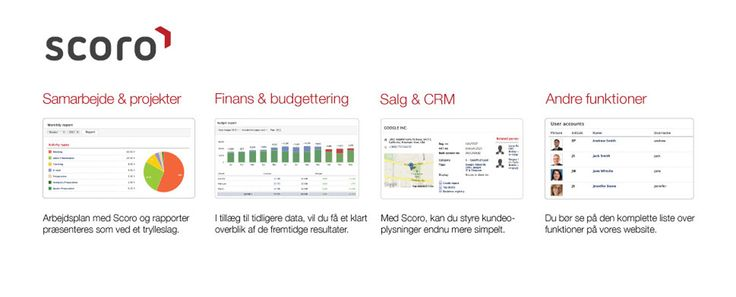Scoro - cloud CRM - gives you an overview in a snap..
