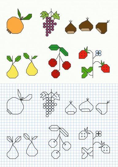 Cornicette per bambini a quadretti autunno