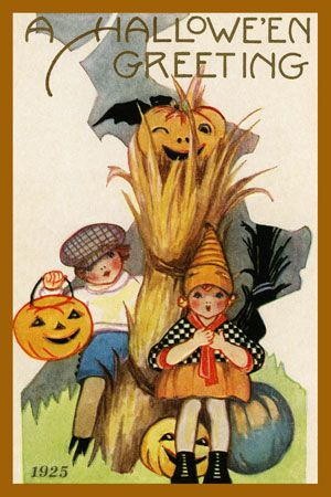 halloween greeting by olde america antiques halloween greeting halloween from olde america antiques online - Antique Halloween Decorations