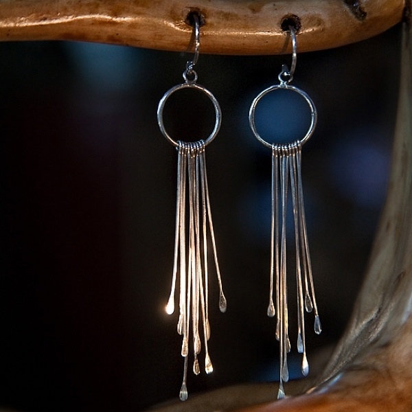 Silver Rain earrings from Pantheia - #silver jewelry #design at its best - www.pantheia.com