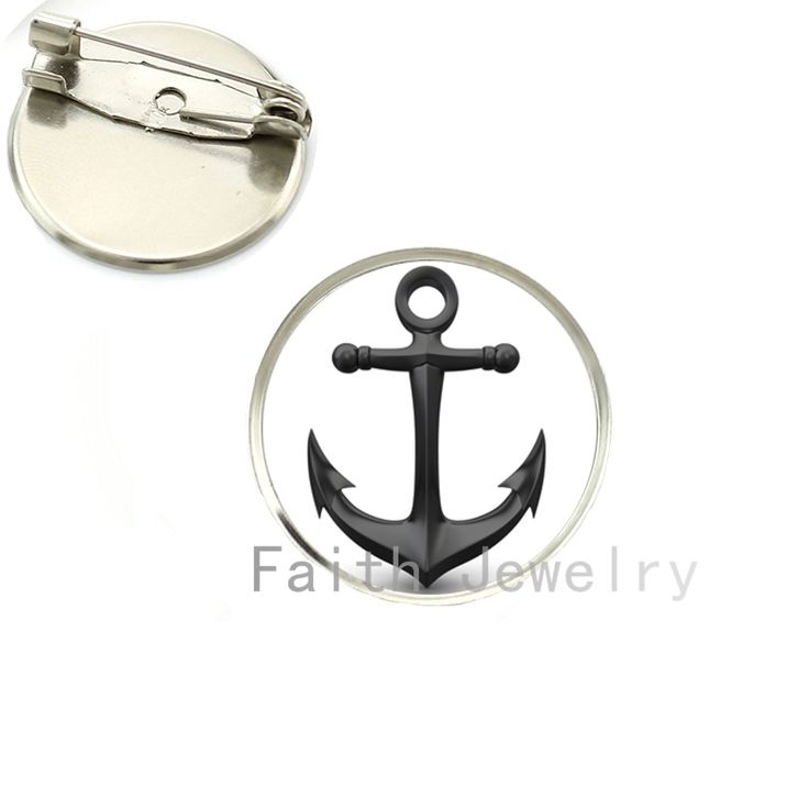 2016 latest fashion Nautical Anchor brooch pins minimalist style colorful boat anchor picture brooches Preppy Gift NS029 #Affiliate