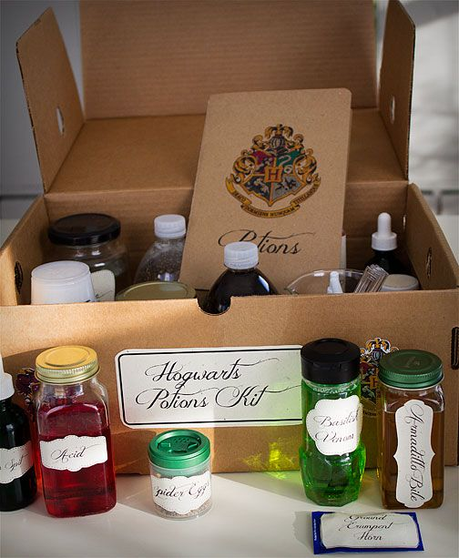 Harry Potter potions kit  The creativity behind this gift is just amazing.