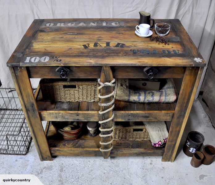 Rustic Industrial Table - 'Artisans Batch'   Trade Me
