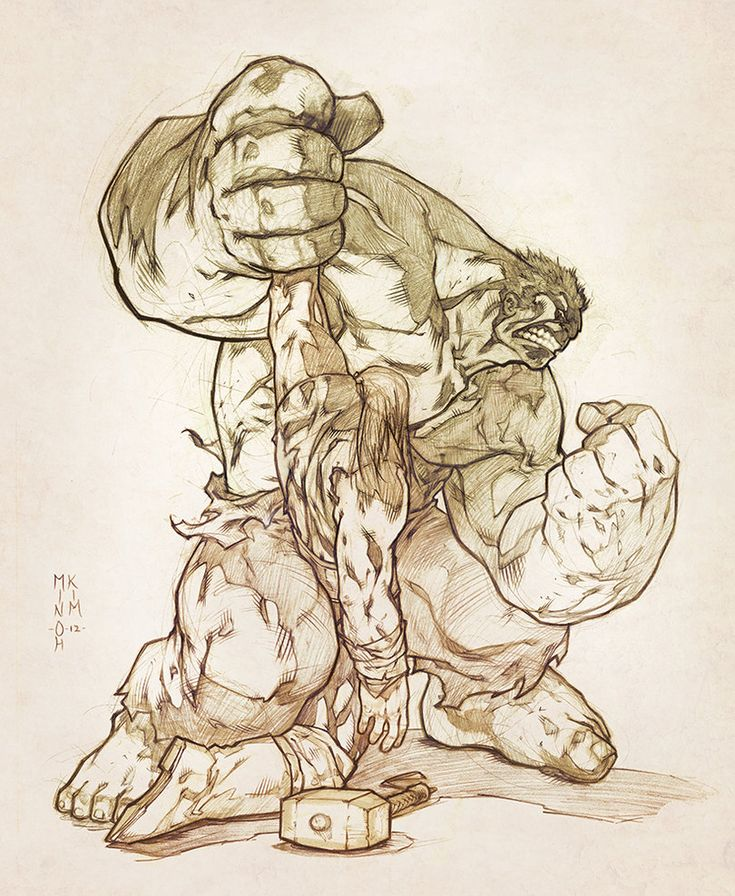 Hulk vs Thor by MinohKim on deviantART