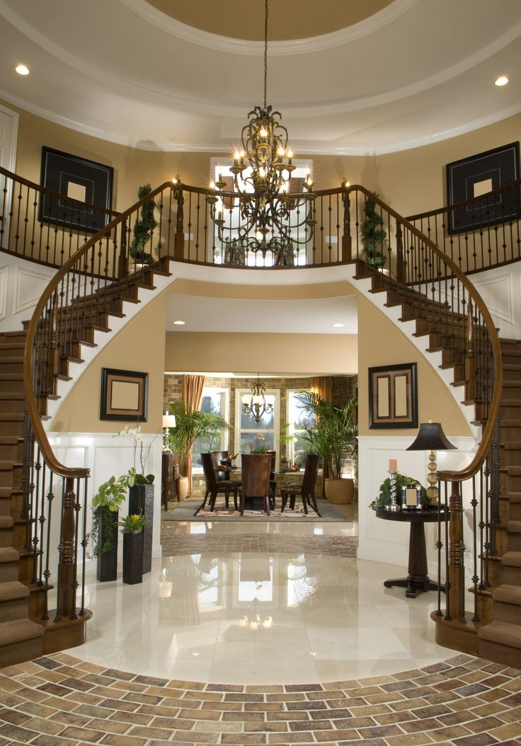 Beautiful grand double staircase