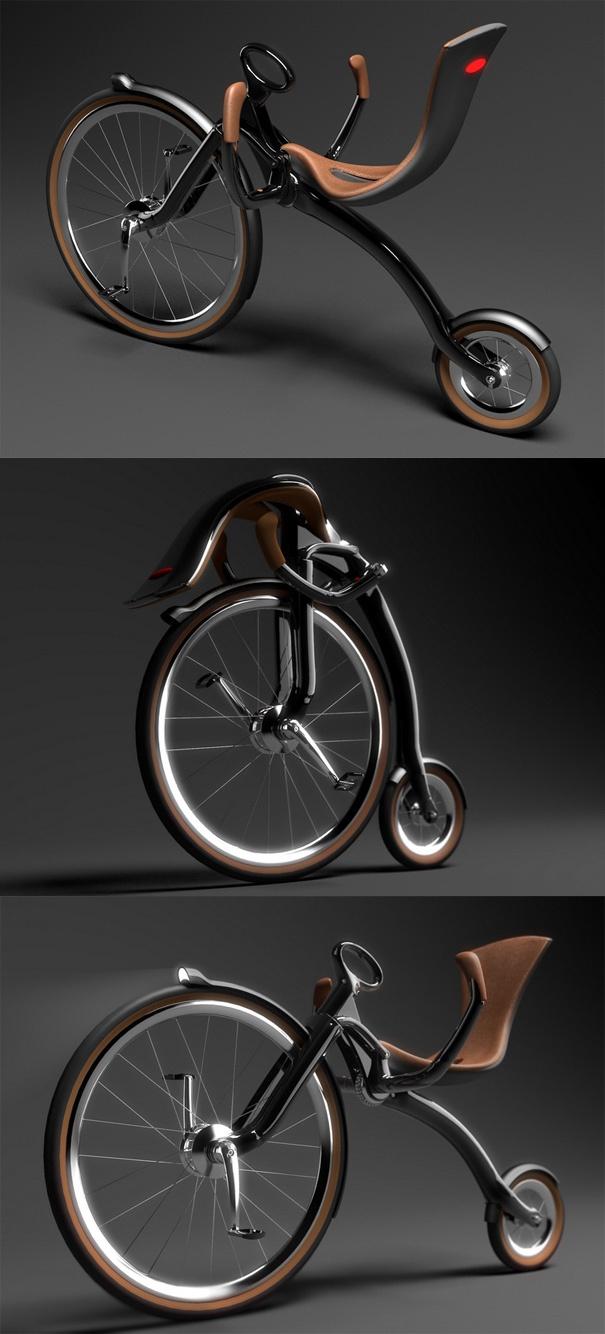 ♂ Oneybike by Peter Varga from http://www.yankodesign.com/2010/05/19/80s-inspired-cruiser-1880s-that-is/#