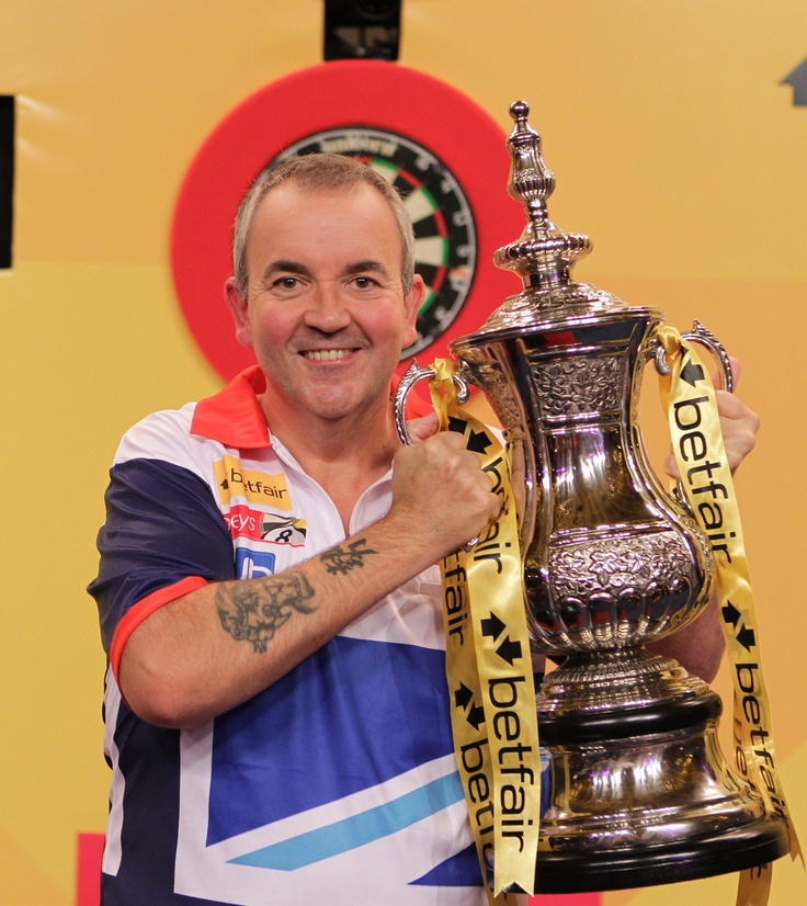 "Philip Douglas 'Phil' Taylor (born 13 August 1960) is an English professional darts player, nicknamed Phil ""The Power"" Taylor. He is widely regarded as the best darts player of all time, having won more than 190 professional tournaments and a record 16 World Championships.He has won the PDC Player of the Year award six times (2006, 2008, 2009, 2010, 2011 and 2012) and has twice been nominated for the BBC Sports Personality of the Year, in 2006 and 2010."