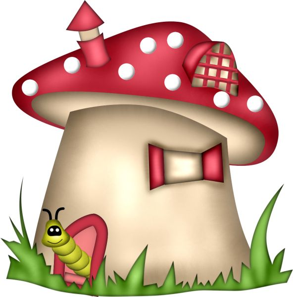 503 best images about clip art gnomes clipart on for Fairy on a mushroom drawing