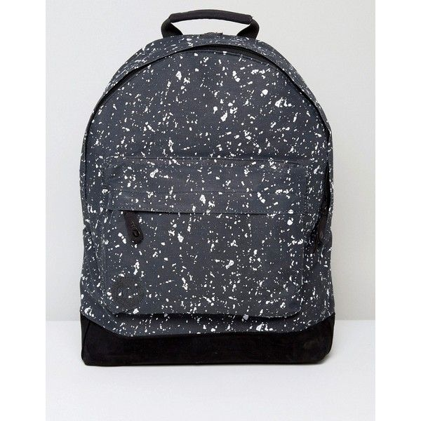 Mi-Pac Backpack with Splatter Print ($47) ❤ liked on Polyvore featuring men's fashion, men's bags, men's backpacks, black, mens one strap backpack and mens travel backpack