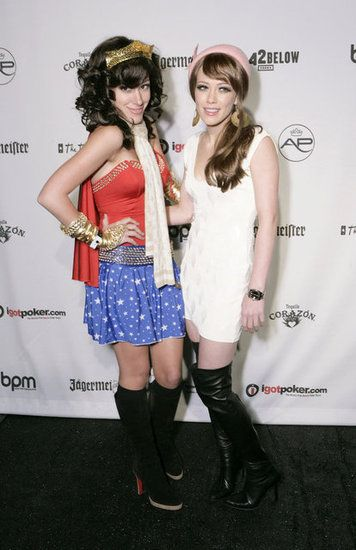 : Hilary and Haylie Duff posed in LA wearing their 2005 costumes.