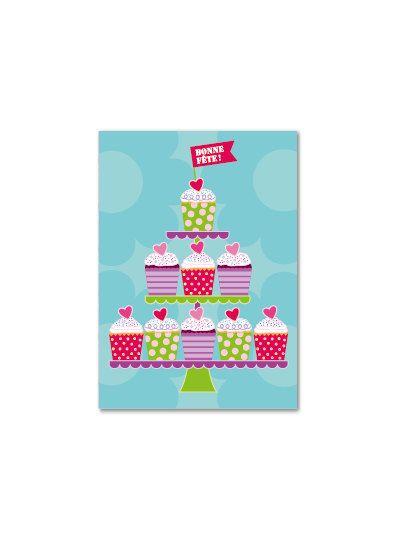 Carte de souhaits  Les cupcakes par CarreLime sur Etsy