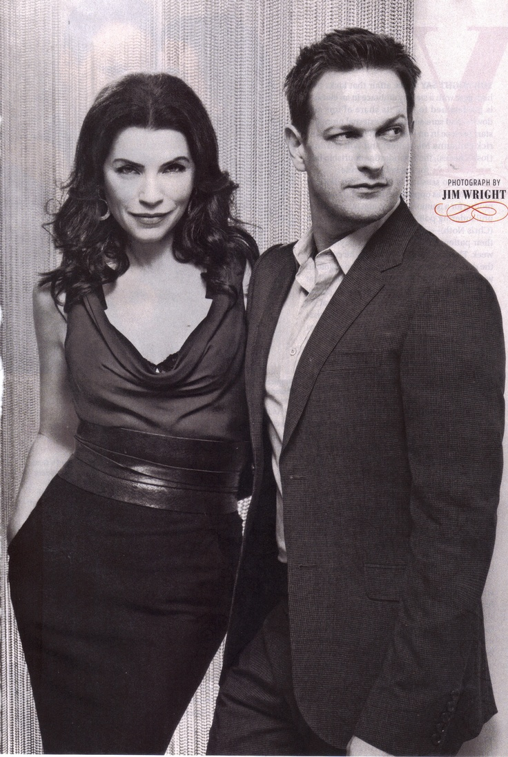 The Good Wife -Josh Charles & Julianna Margulies Addicted to this show!! Will is so hot, yet such a DICK