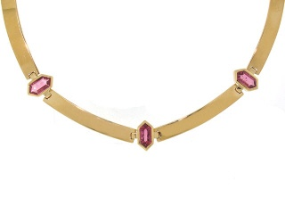 Carlo Weingrill Pink Tourmaline Necklace in 18K