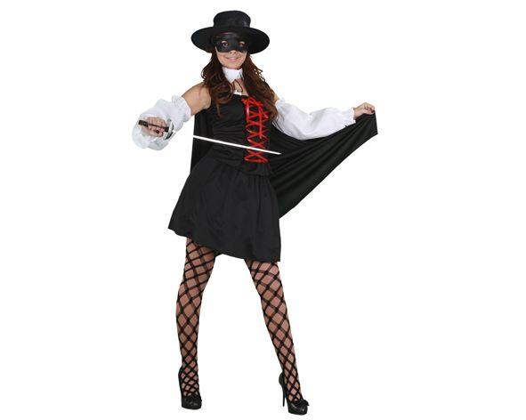 El disfraz de zorro barato mujer adulto, incluye antifaz, camisa, falda, capa y manguitos en DisfracesMimo.com