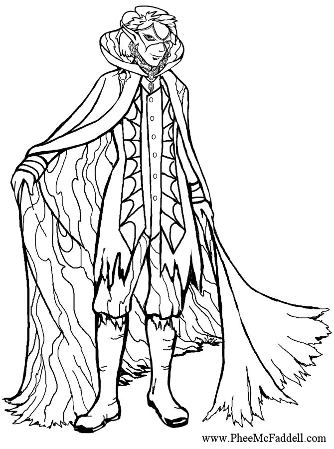 coloring pages of mystical angels - photo#35