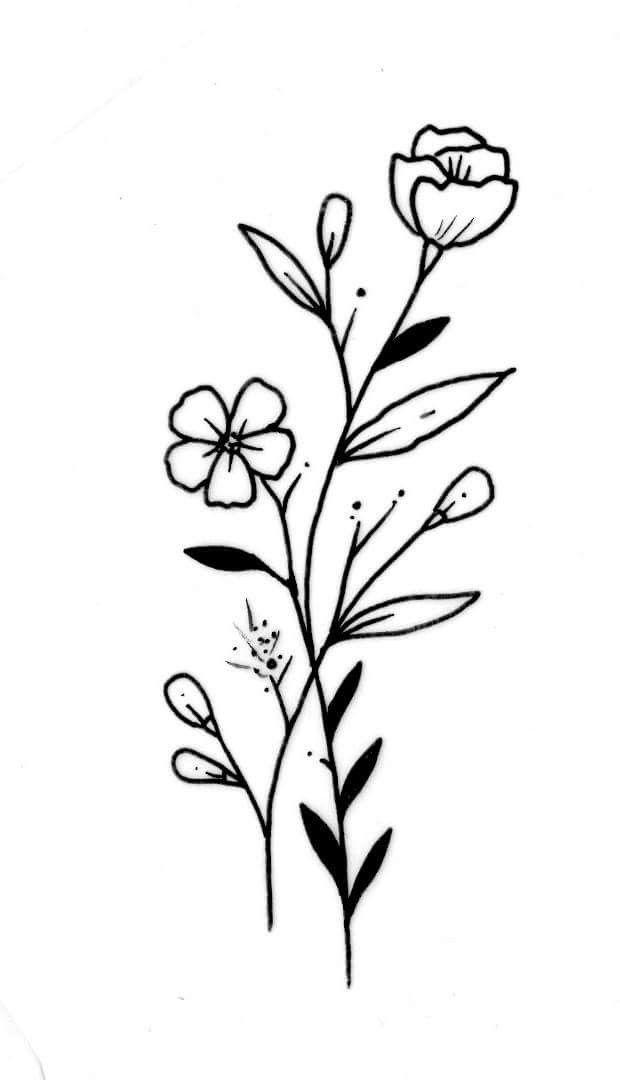 Flowers Tattoos Ink Floraltattoo Femininetattoo Wildflower