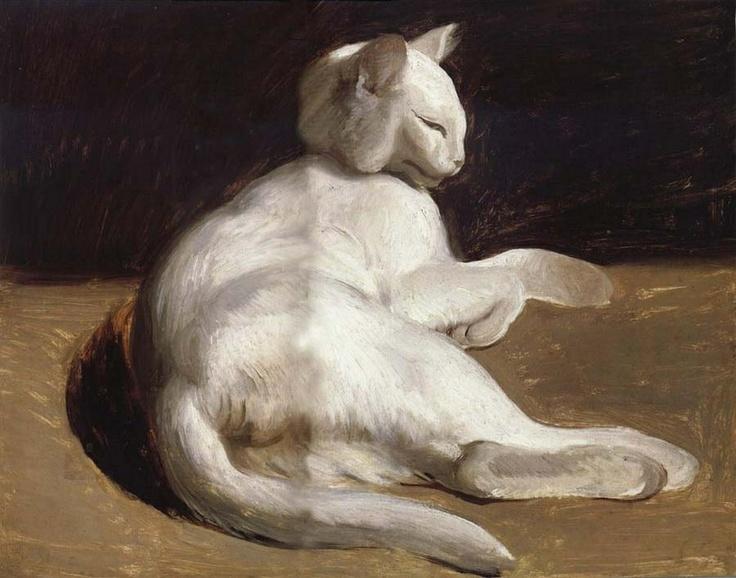 Théodore Géricault (1791-1824) - Le Chat Blanc (The White Cat).
