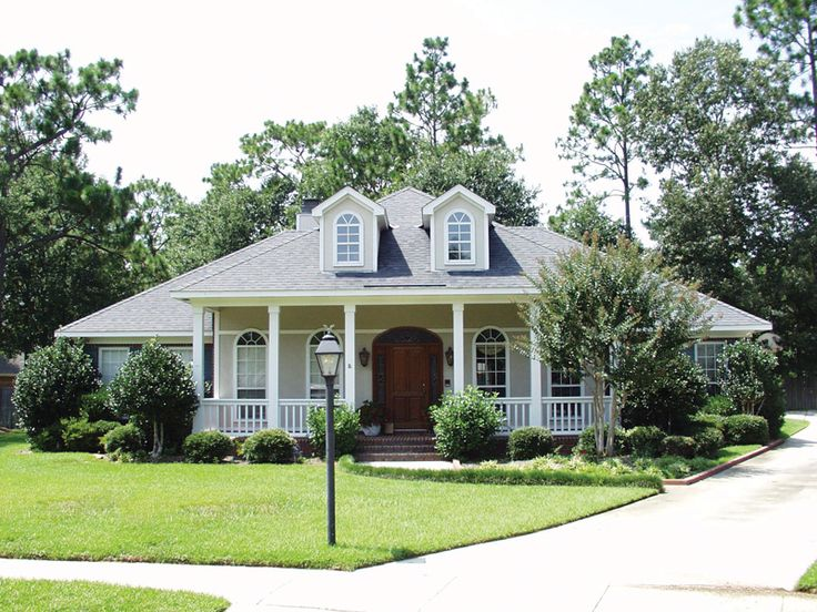 111 best low country french creole home plans images on for Southern style ranch home plans