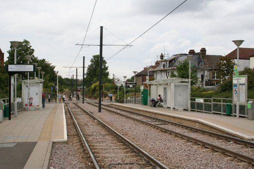 Croydon Tramlink tram stop at Addiscombe