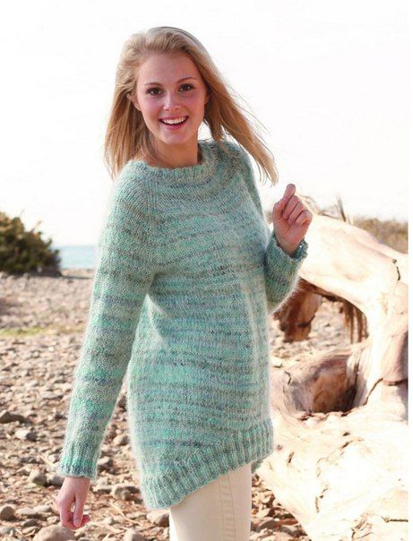свитер с удлиненной спинкой спицами - Поиск в Google