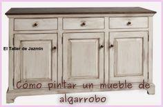 Cómo pintar un mueble de algarrobo. Paso a paso válido para muebles de otras maderas. Blog de Argentina
