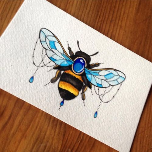 Jeweled Bumble bee! sarahpetersart