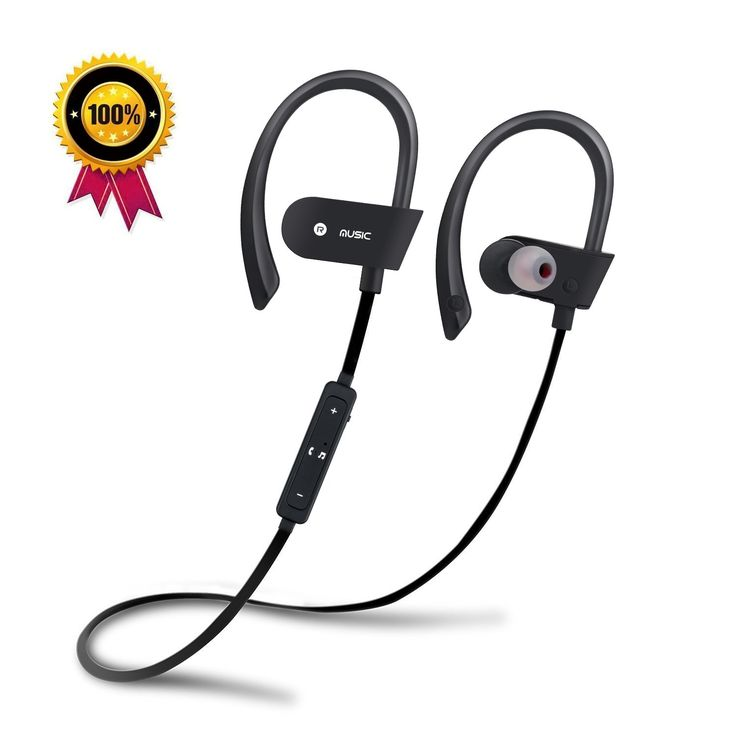 headphones, sweatproof sports earbuds,Best Wireless noise cancelling earphones,waterproof Headsets with Build-in Mic for Gym Running Workout. 5. Long lasting 8-hour battery life, your music goes wherever you are. Battery with large capacity with its Low Energy technology guarantee a longer battery life while ensuring high quality music playing.
