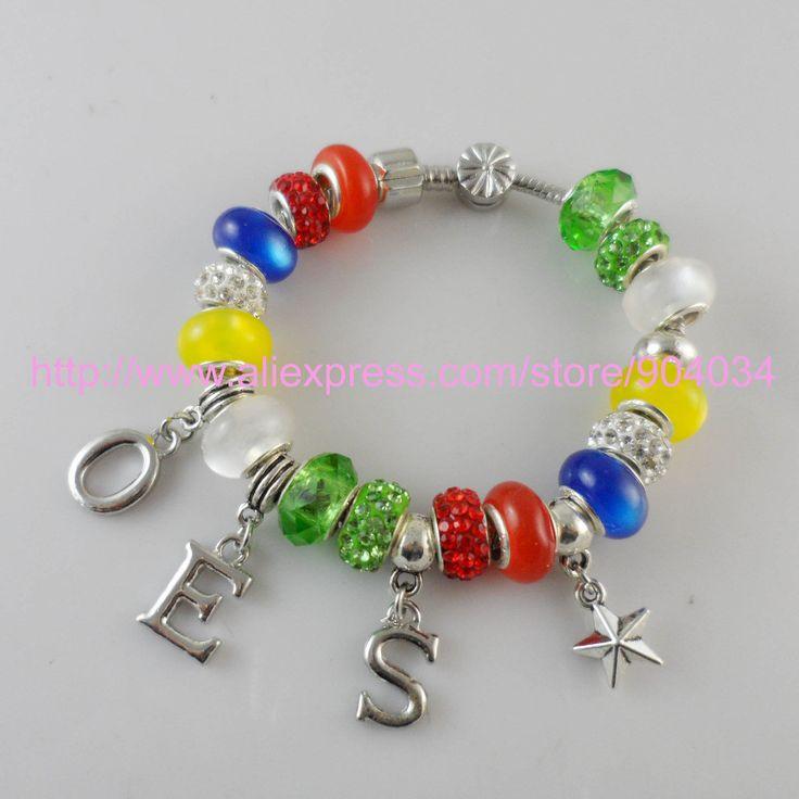 Bracelet. Order of The Eastern Star charm bracelet