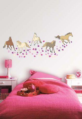 Muurstickers paardenkamer #kinderkamer | Wall sticker horses #kidsroom #kids
